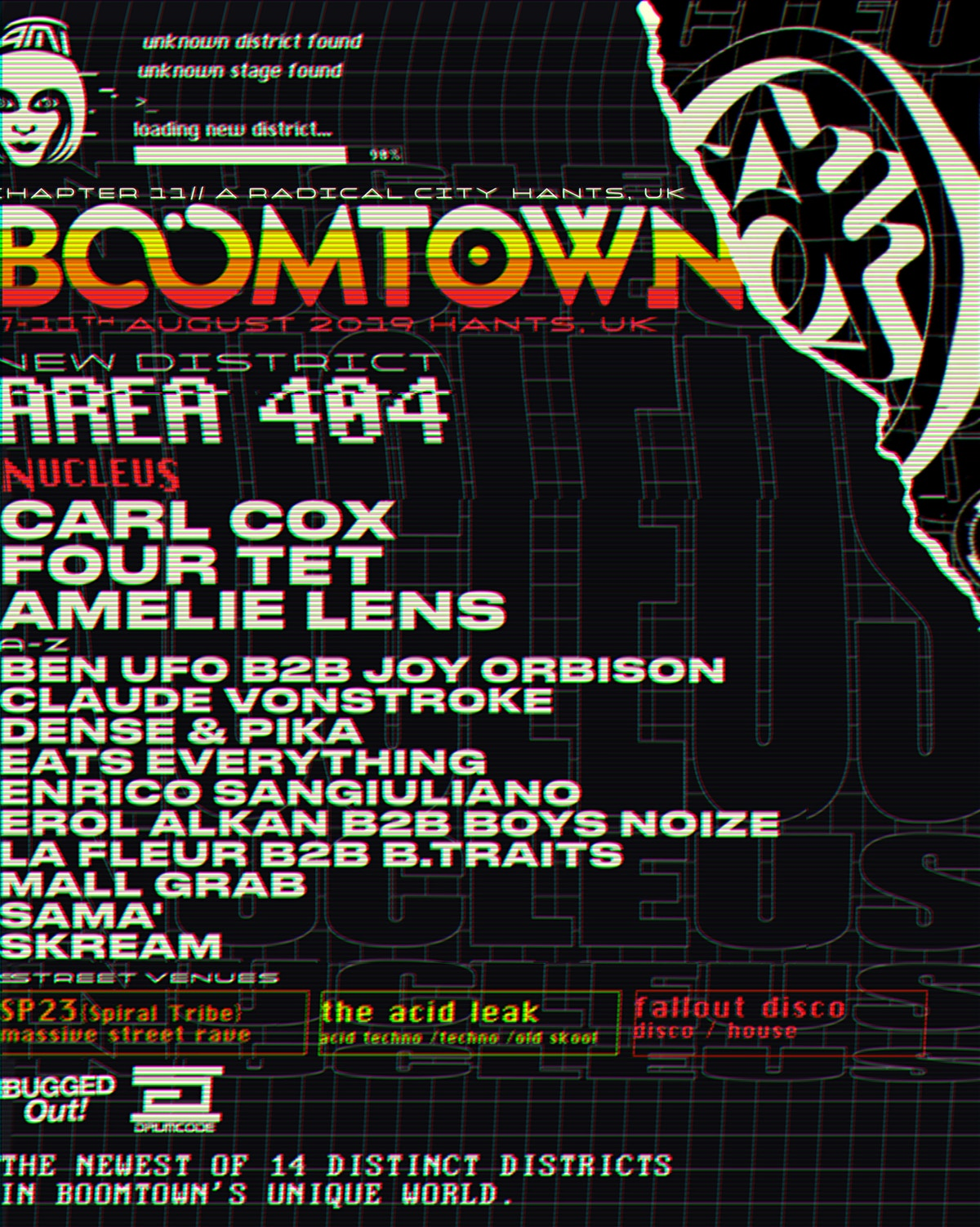BOOMTOWN 2019 introduces new TECHNO and ELECTRONIC district!