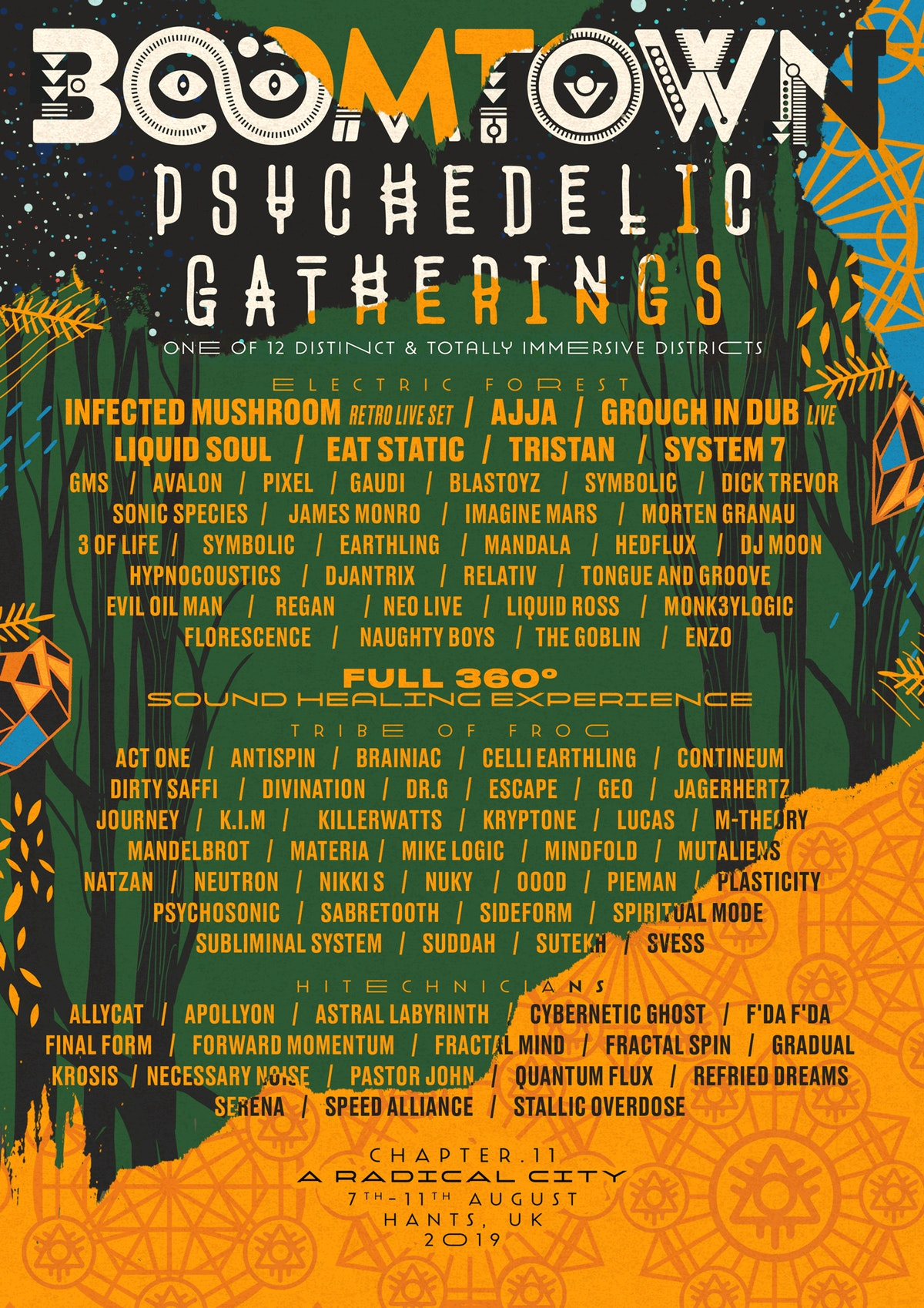 BOOMTOWN 2019 reveals psychedelic LINEUP + NEW STAGES!
