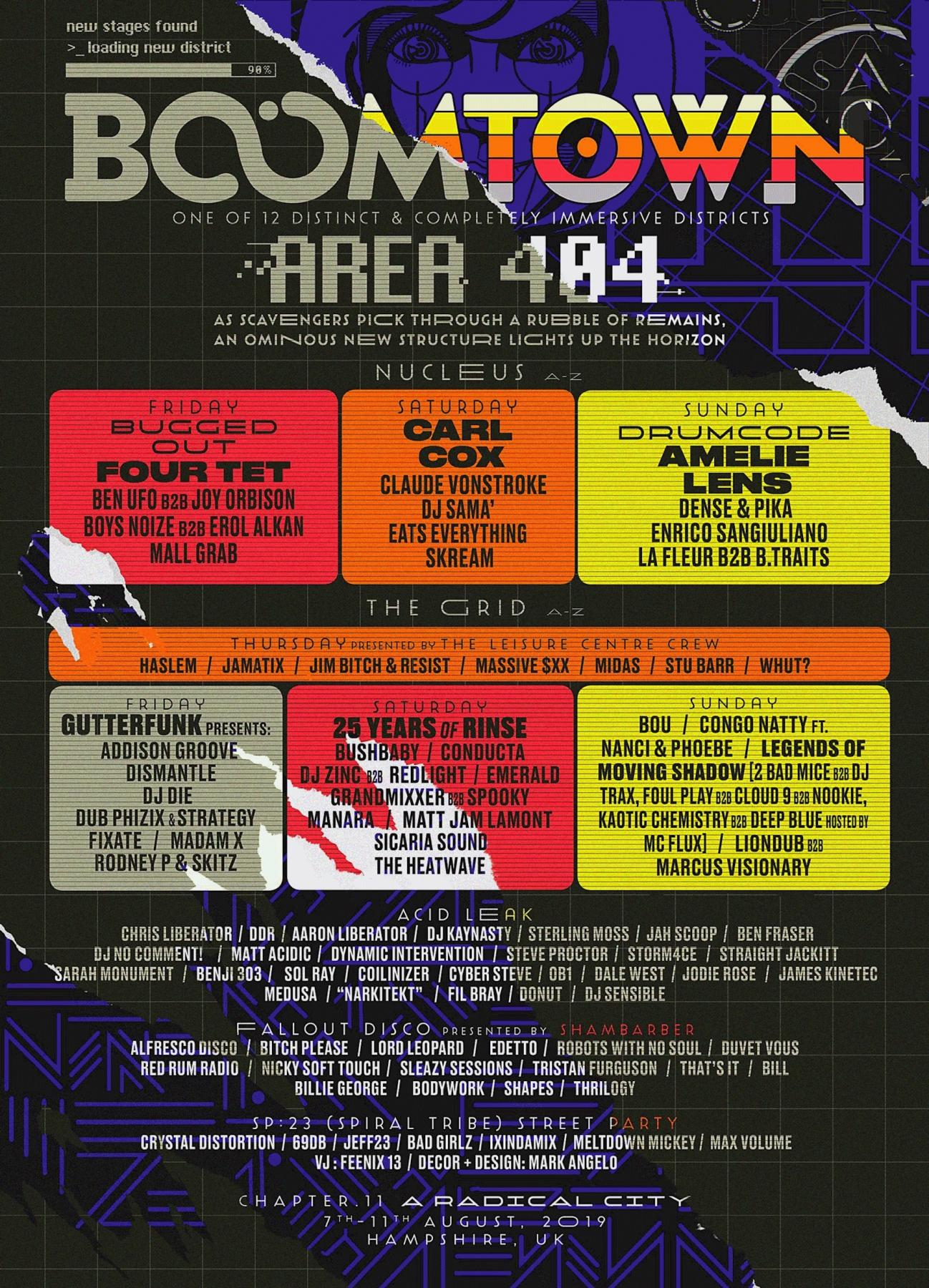 BOOMTOWN 2019 unveils 4 new stages for AREA 404!