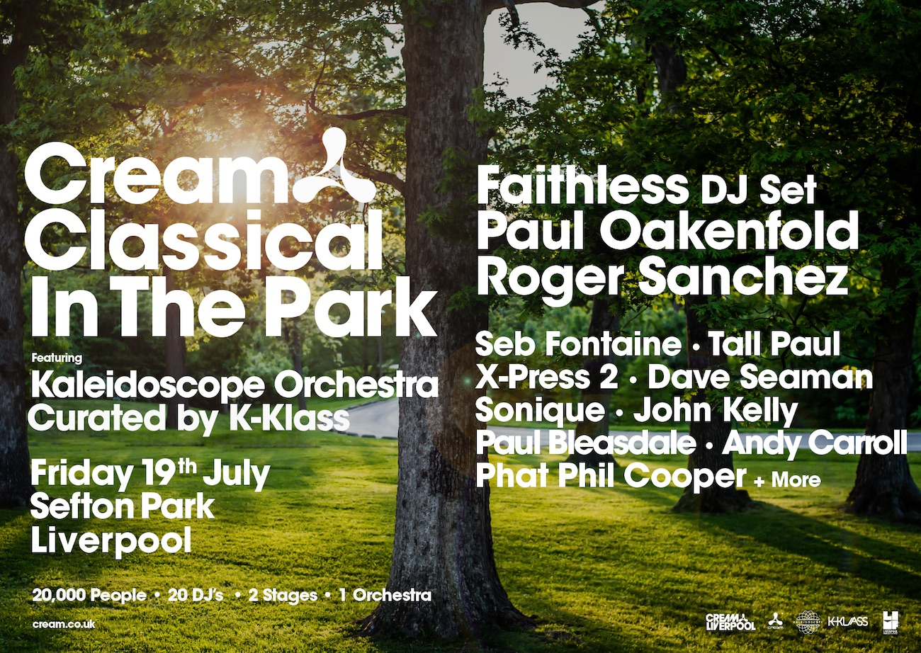 Cream Classical In The Park 2019 LINEUP unveiled!