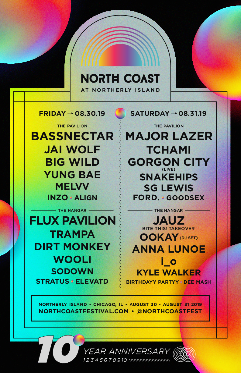 NORTH COAST revealed 2019 lineup for its 10 year anniversary!