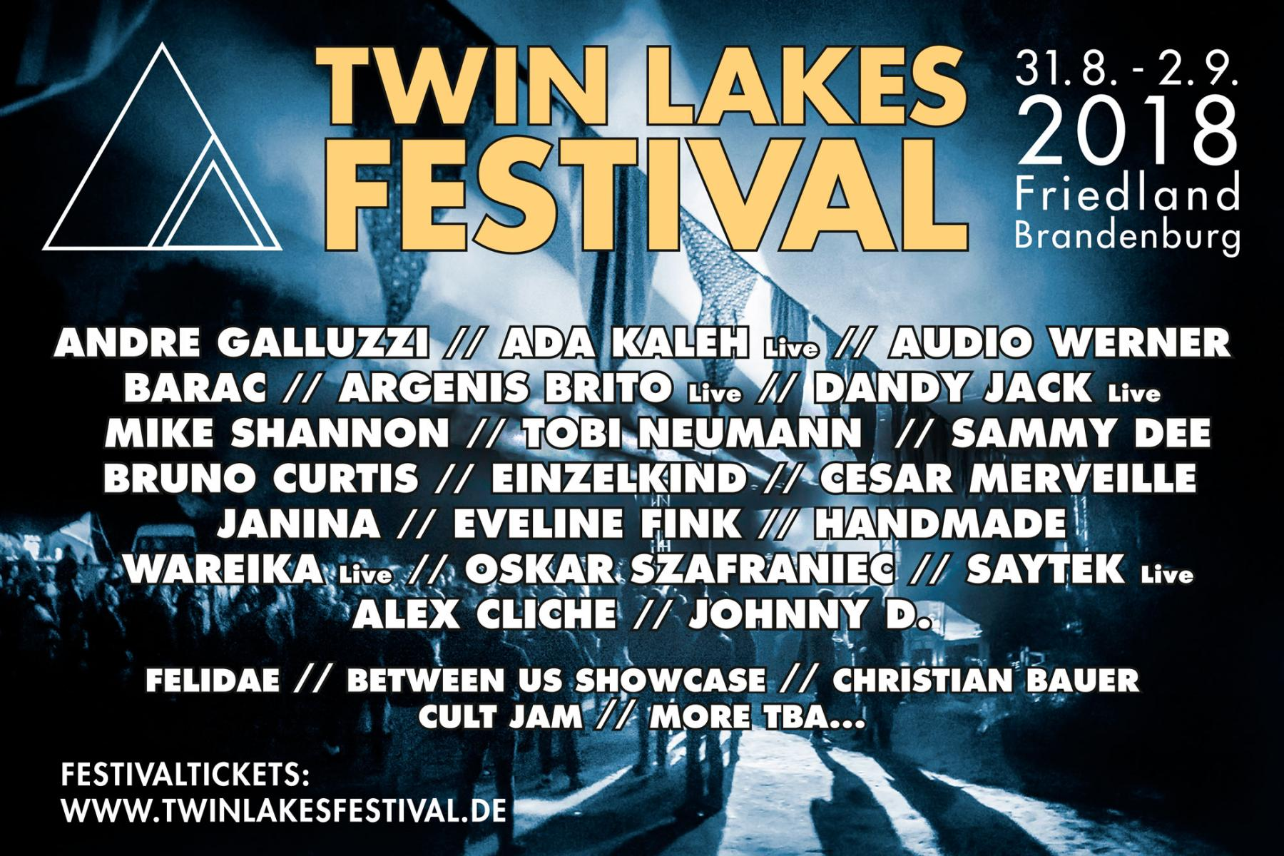 Twin Lakes Festival 2018 Line Up