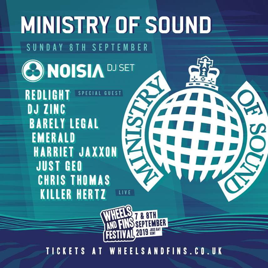 Massive MINISTRY OF SOUND Takeover confirmed for WHEELS AND FINS FESTIVAL 2019!