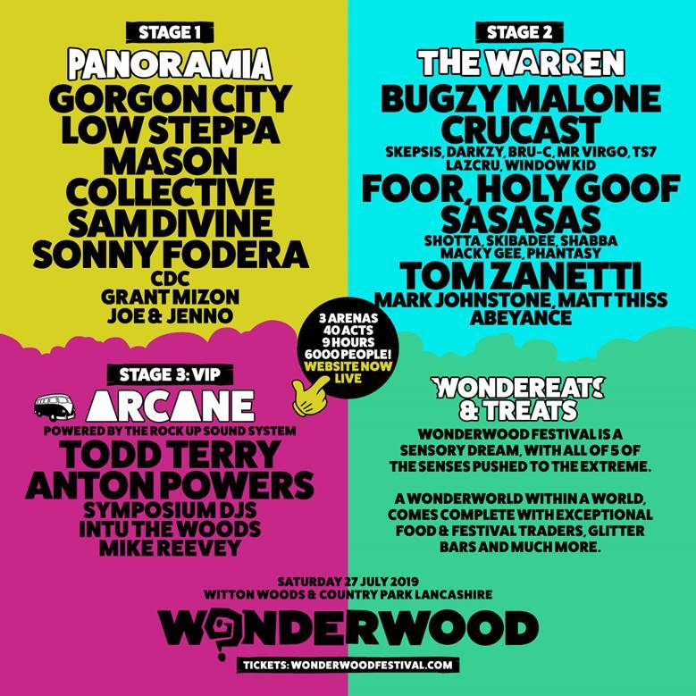 Stage Splits, Themes, Food World and More for WONDERWOOD 2019 Debut announced!